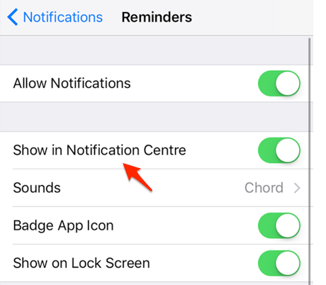 How to Get Reminders to Pop Up in Notifications on iPhone – Step 4