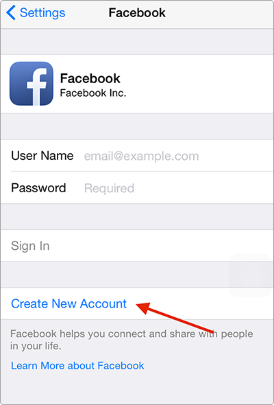 How to Create A Facebook Account on iPhone iPad - Step 1