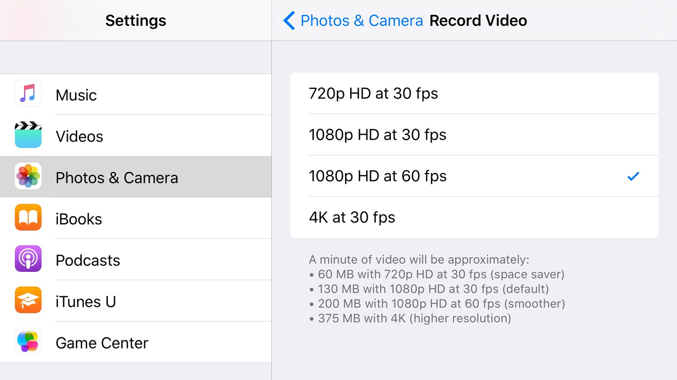 How to Set Video Recording Quality on iOS 9