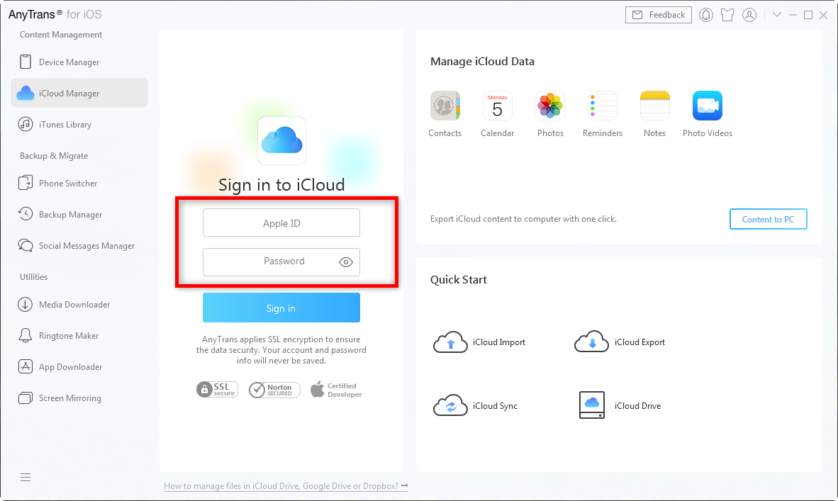 How to Download Calendar from iCloud Backup Easily - Step 1