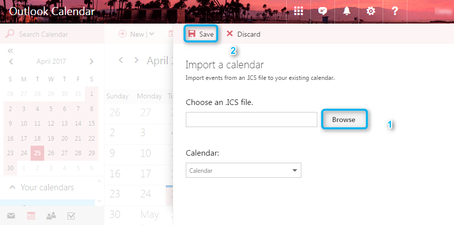 Share iCloud Calendar with Outlook by .iCS File - Step 4