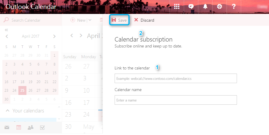 Share iCloud Calendar with Outlook by URL - Step 3