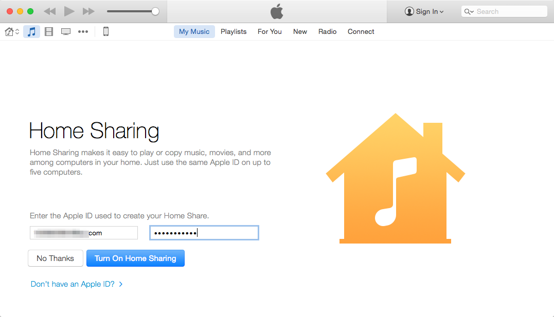 How to Share iTunes Library with Home Sharing