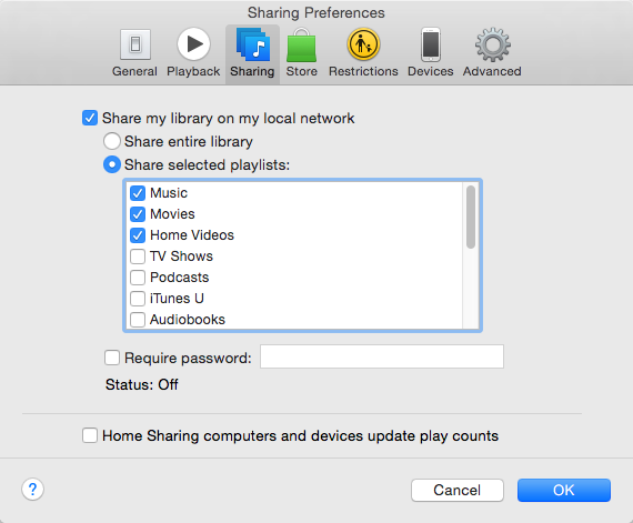 How to Share iTunes Library with iTunes