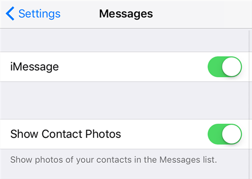 Enable the iMessage feature on your iPhone and iPad