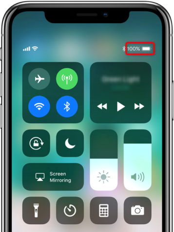 How to Show Battery Percentage on iPhone XS Max/XS/XR/X in Control Center