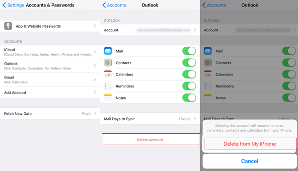 How to Delete An Email Accounts and Passwords on iPhone