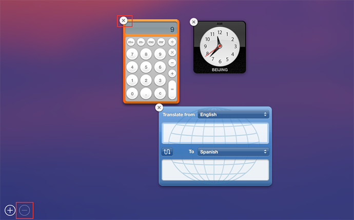 Remove Unused Widgets from Dashboard to Speed Up Mac
