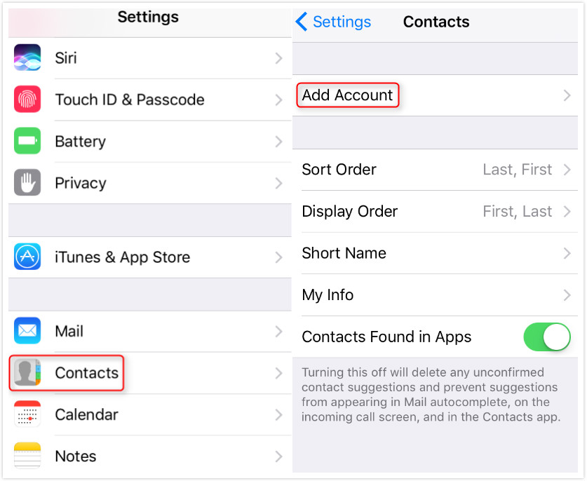 How to Sync Exchange Contacts with iCloud - Step 1
