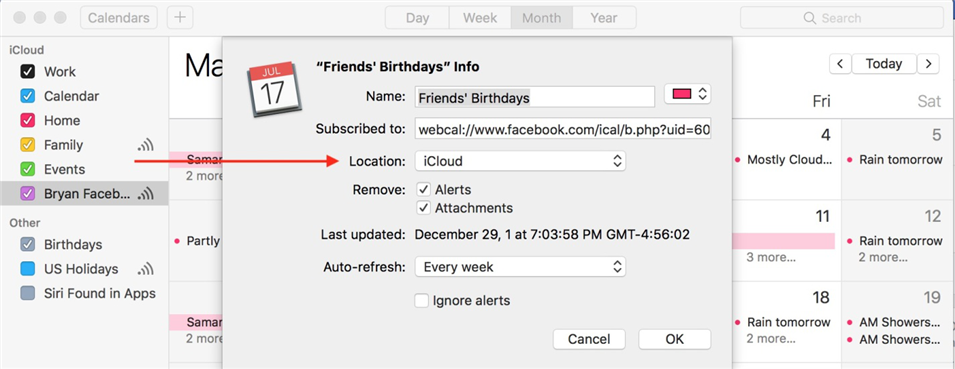 How to Sync Facebook Events to iPhone Calendar on Mac - Step 6