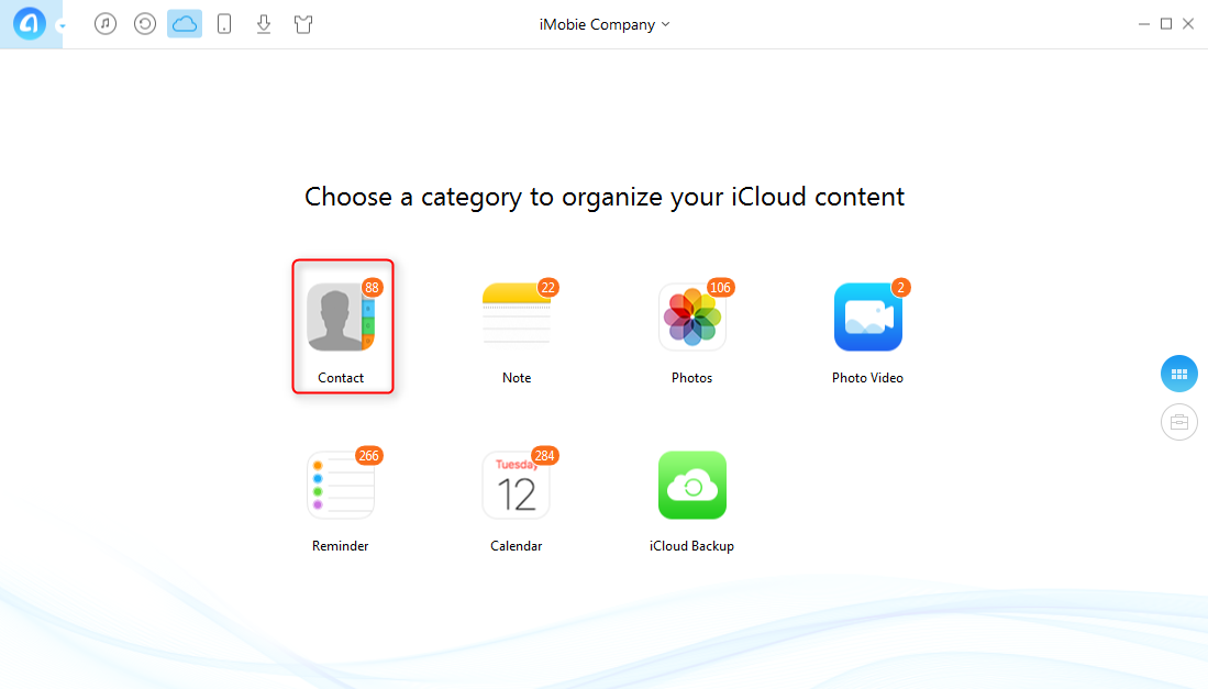 How to Transfer iCloud Contacts to Another iCloud Account - Step 2