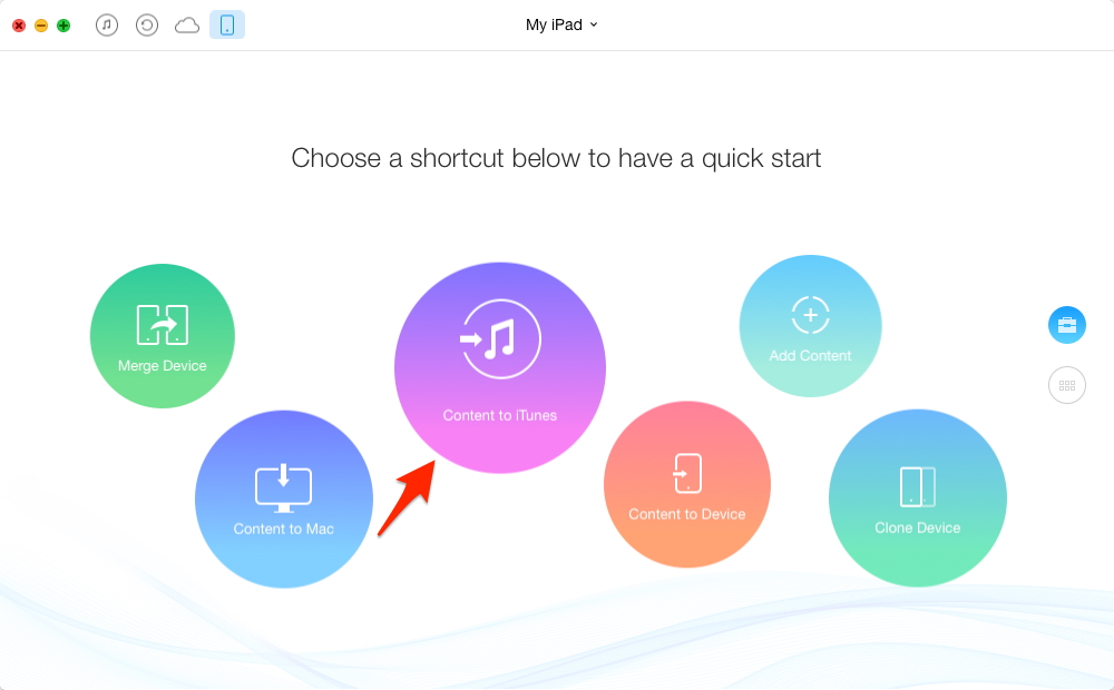 How to Sync iPad to iTunes with AnyTrans – Step 1