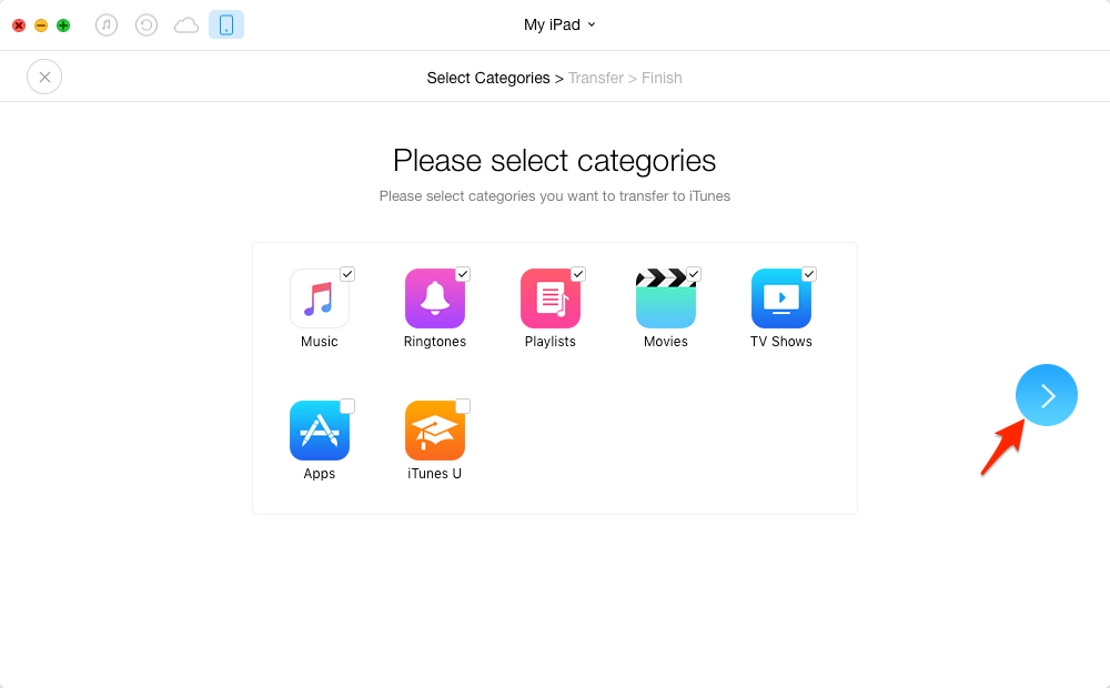 How to Sync iPad to iTunes with AnyTrans – Step 2