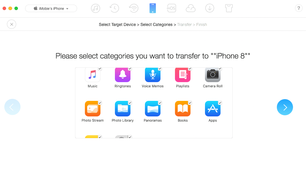 Sync iPhone to iPhone with AnyTrans for iOS - Step 3