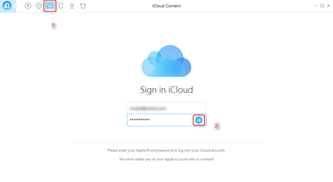 How to Sync Outlook Contacts to iCloud with AnyTrans - Step 2
