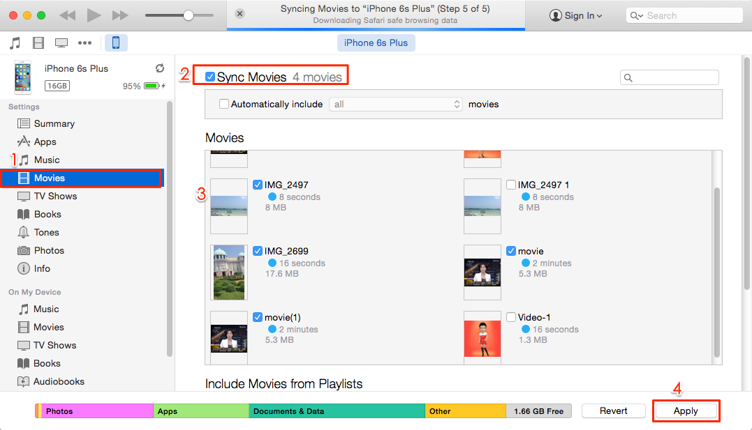 How to Sync Movies to iPhone iPad via iTunes
