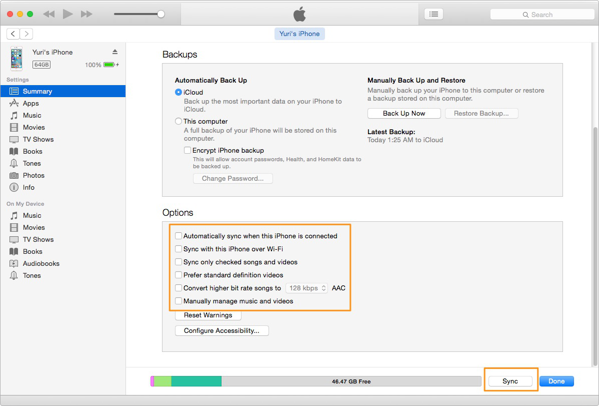 How to Sync with iTunes