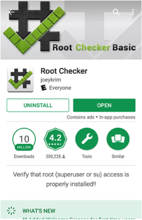 Check Root Access with Root Checker - Step 1