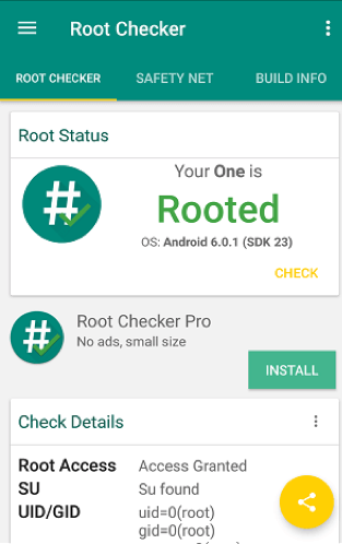 Check Root Access with Root Checker - Step 4