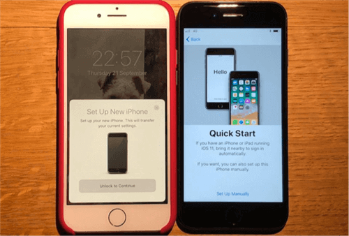 How to Transfer Backup to New iPhone via Quick Start