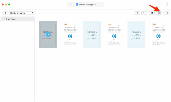 How to Transfer Books from iPhone to Computer – Step 3
