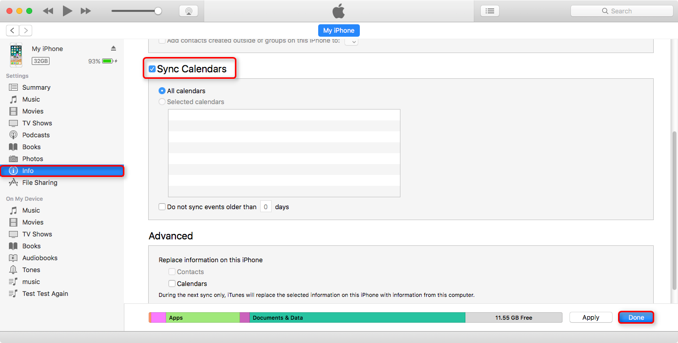 How to Sync Calendar from iPhone to Mac with iTunes