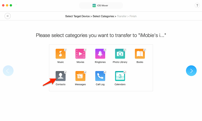Transfer All Contacts from Android to iPad/iPad Mini - Step 2