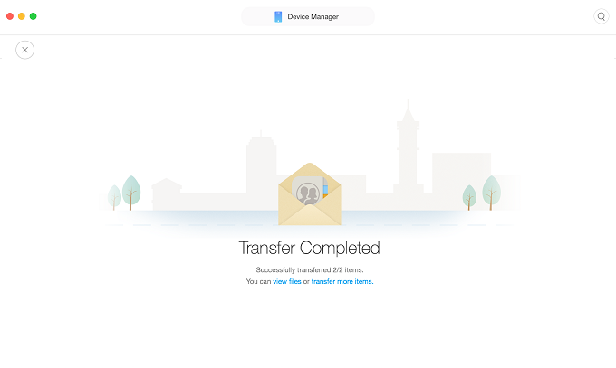 Transfer Contacts from iPhone to MacOS Sierra with AnyTrans for iOS by Category -Step 4