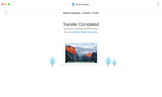 Transfer Contacts from iPhone to MacOS Sierra with AnyTrans for iOS in One-Click -Step 3