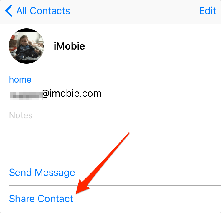 How to Transfer Specific iPhone Contacts to SIM Card via Email - Step 1