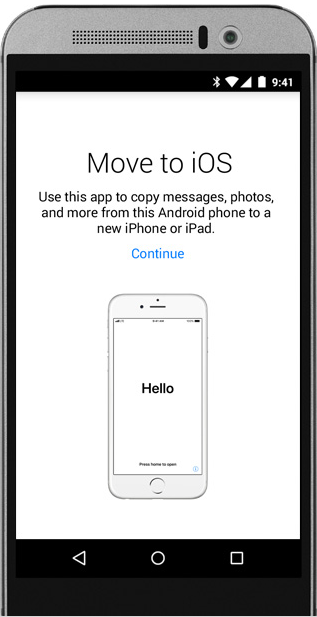 Transfer Everything from Android to iPhone X/XS (Max)/XR with Move to iOS - Step 1