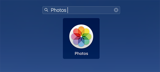 Launch the Photos app on your Mac