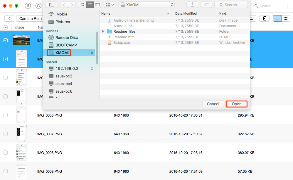 How to Transfer Specific Files from iPhone/iPad to Flash Drive – Step 2