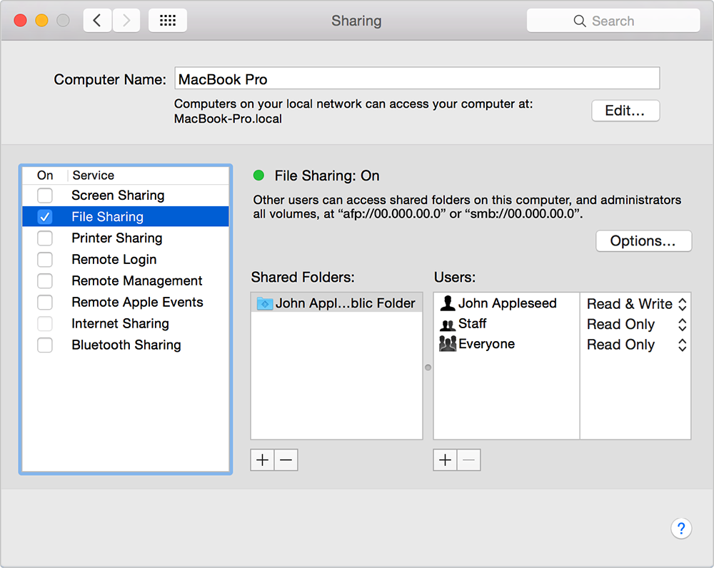 How to Share Files Between Macs with File Sharing