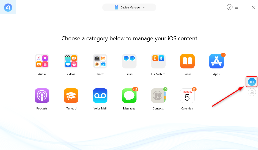 How to Copy Files from PC to iPad with AnyTrans for iOS – Step 2