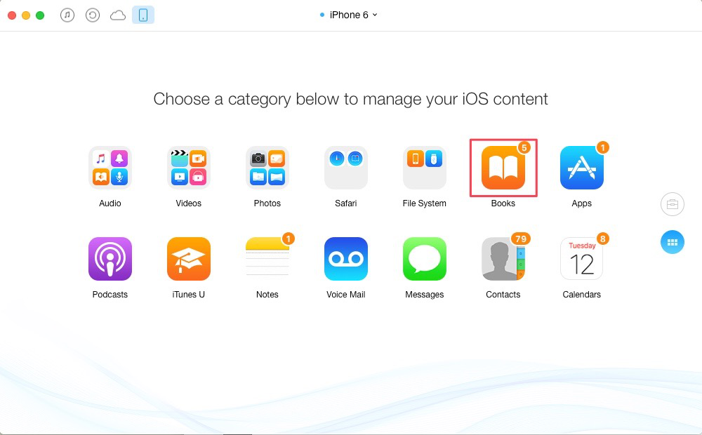How to Transfer iBooks from iPhone to iPhone 7/7 Plus – Step 2