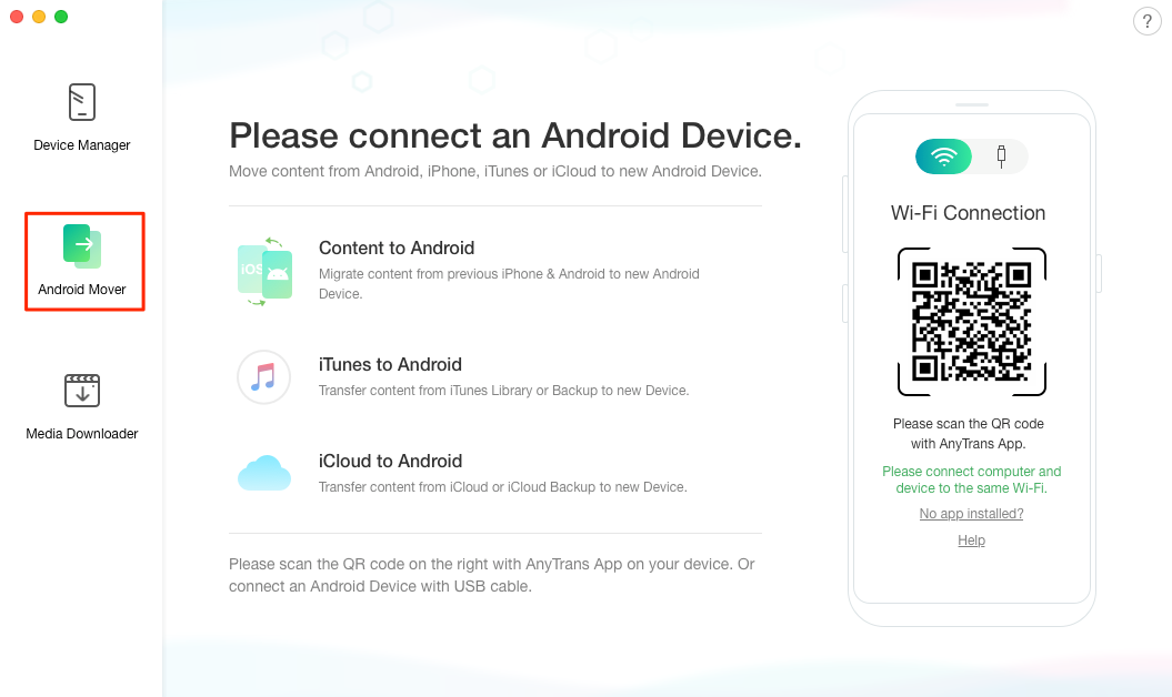 How to Transfer iCloud Backup to Android - Step 1