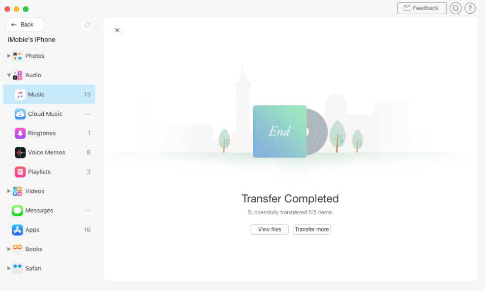 Transfer iPhone Purchases to iTunes with AnyTrans - Step 3