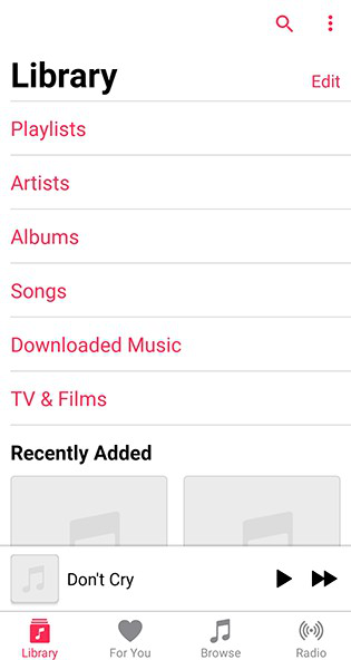 Transfer Music from iTunes to Android via Apple Music - Step 4