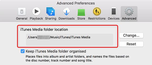 Find iTunes Library Location