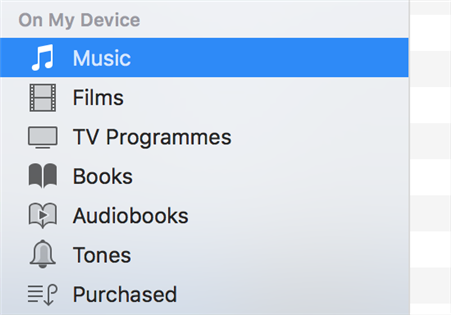 Paste iTunes Library on iPhone