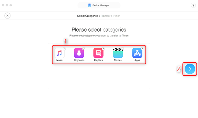 How to Transfer iTunes Library to New Mac via AnyTrans for iOS - Step 4