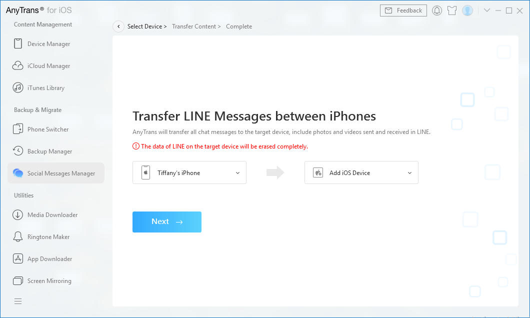How to Transfer Line to New iPhone - Step 2