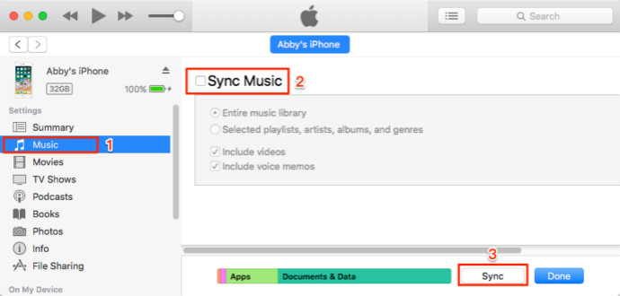How to Transfer MP3 from Computers to iPhone with iTunes - Step 2