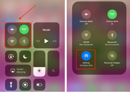 How to Transfer Music from Mac to iPhone via AirDrop - iPhone Screen