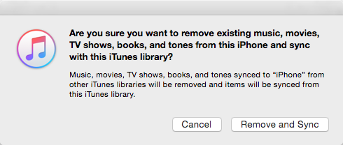 iTunes Sync Will Erase Existing Songs