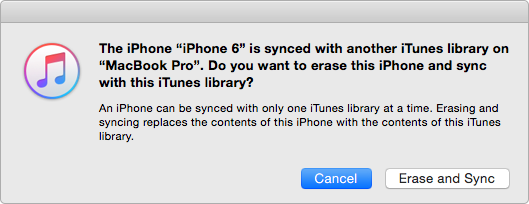 iTunes Sync Erases Existing Songs