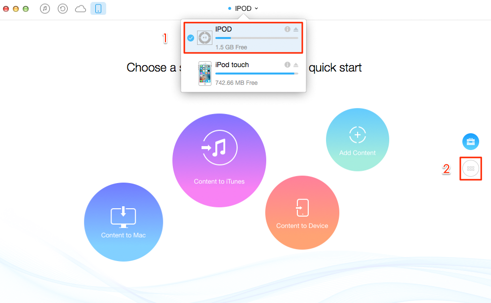 How to Transfer Music from iPod to iPod – Step 1