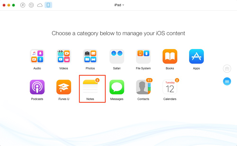 How to Transfer Notes from iPad to iPad – Step2