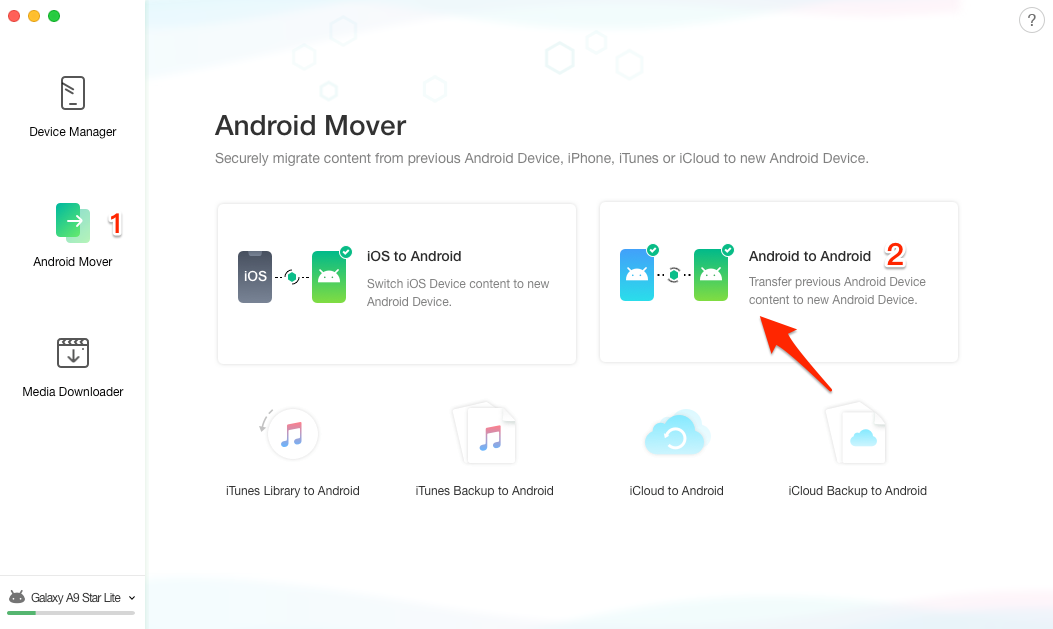 How to Transfer Photos from Android to Android - Step 2